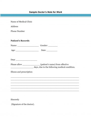 005 Wondrou Doctor Excuse Template For Work Highest Clarity  Note Missing360