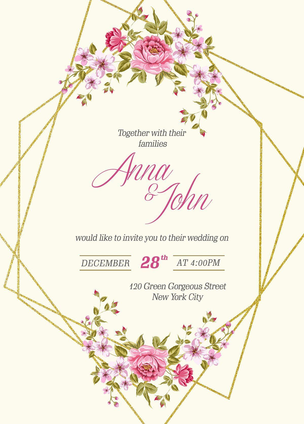 005 Wondrou Download Free Wedding Invitation Card Template Concept  Marriage Format PsdFull
