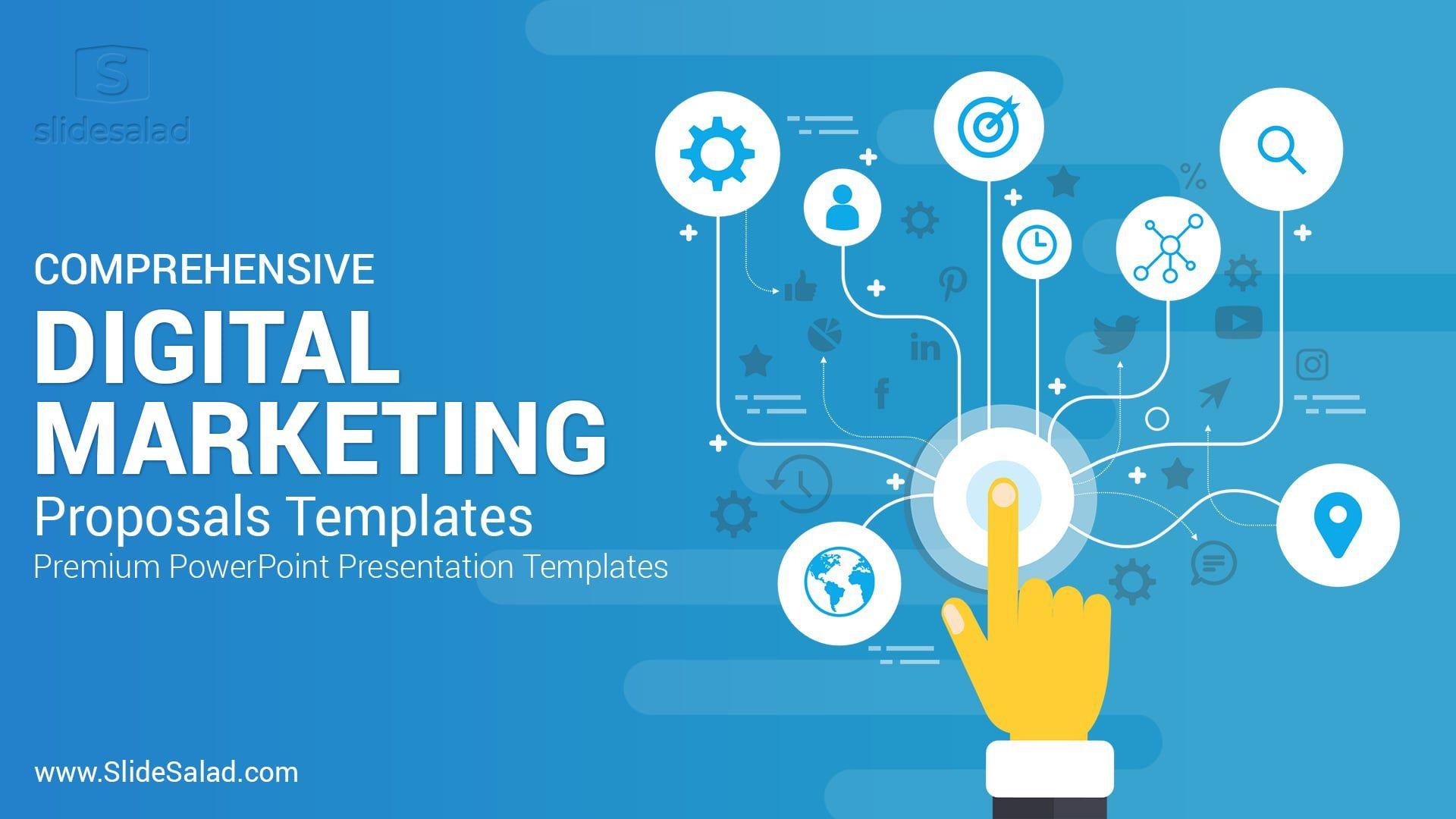 005 Wondrou Free Digital Marketing Plan Template Ppt Design Full