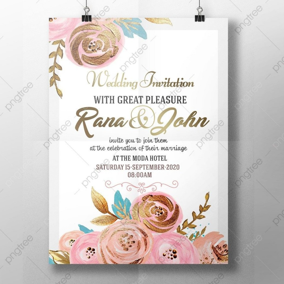 005 Wondrou Free Download Marriage Invitation Template High Definition  Card Design Psd After Effect960