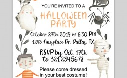 005 Wondrou Free Halloween Invite Template Concept  Templates Party Invitation For Word