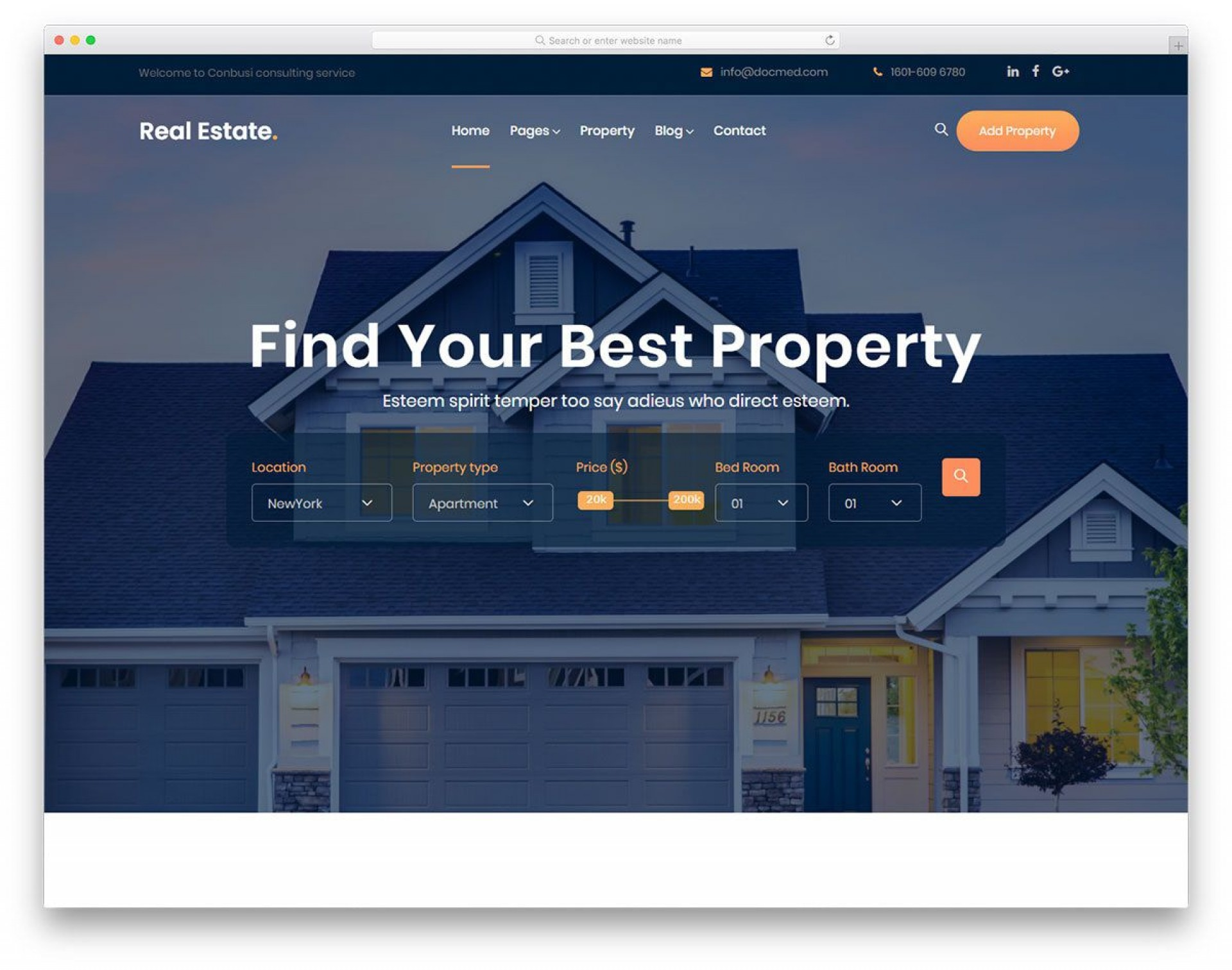005 Wondrou Free Real Estate Template Example  Website Download Bootstrap 41920