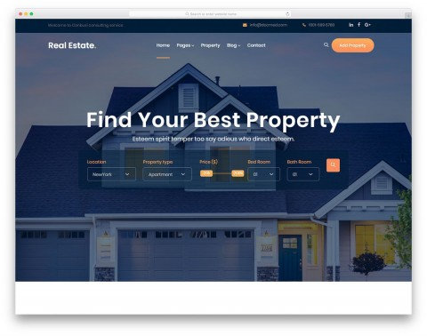 005 Wondrou Free Real Estate Template Example  Website Download Bootstrap 4480