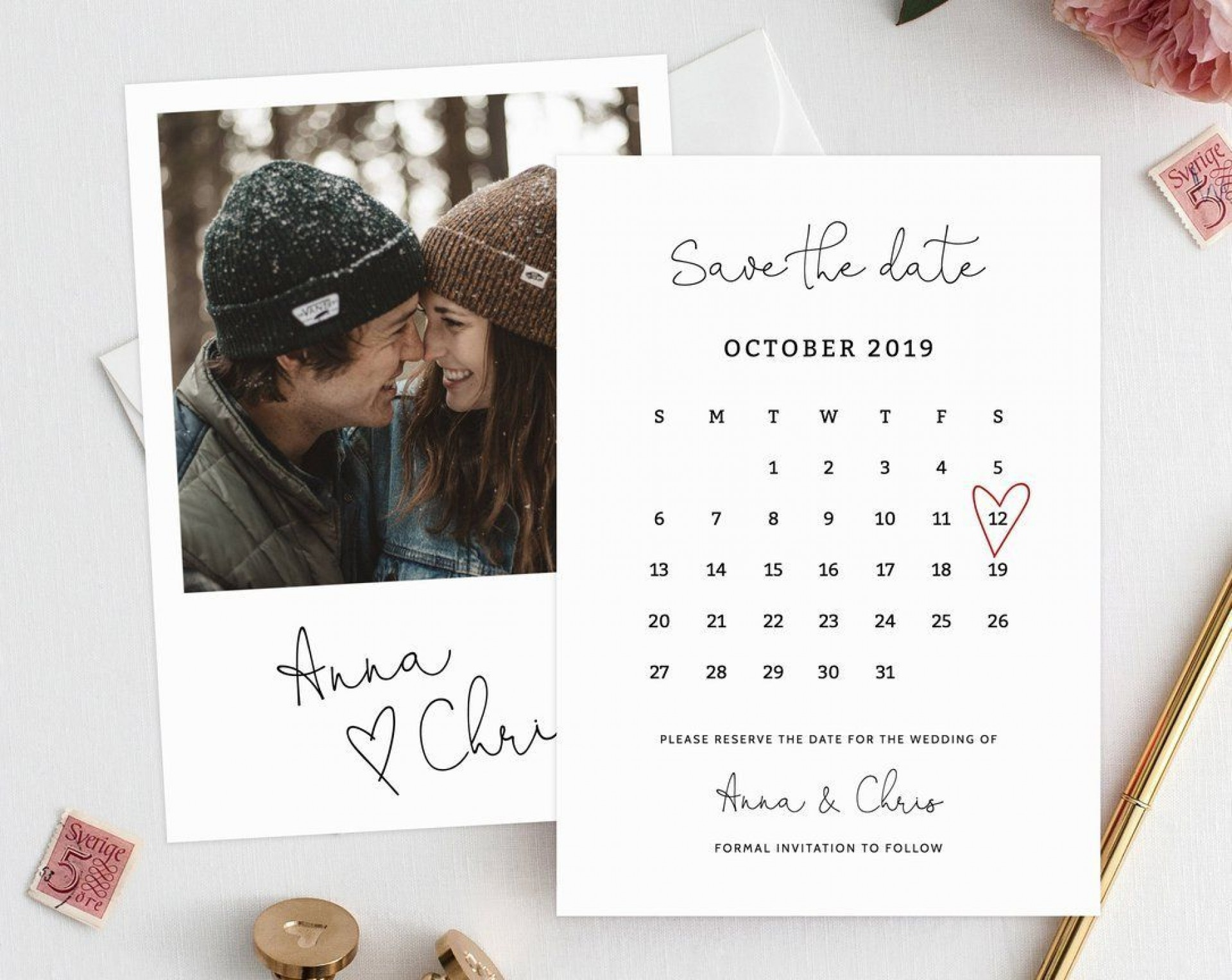 005 Wondrou Free Save The Date Birthday Postcard Template Highest Quality 1920