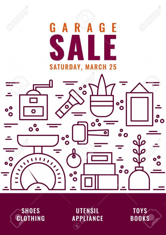 005 Wondrou Garage Sale Flyer Template Free Idea  Community Neighborhood YardLarge
