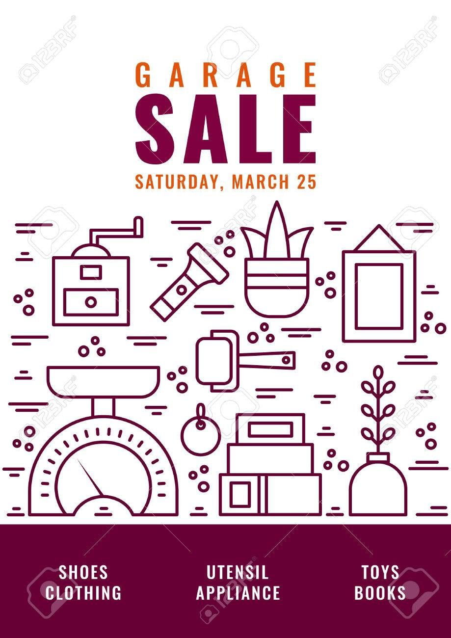 005 Wondrou Garage Sale Flyer Template Free Idea  Community Neighborhood YardFull