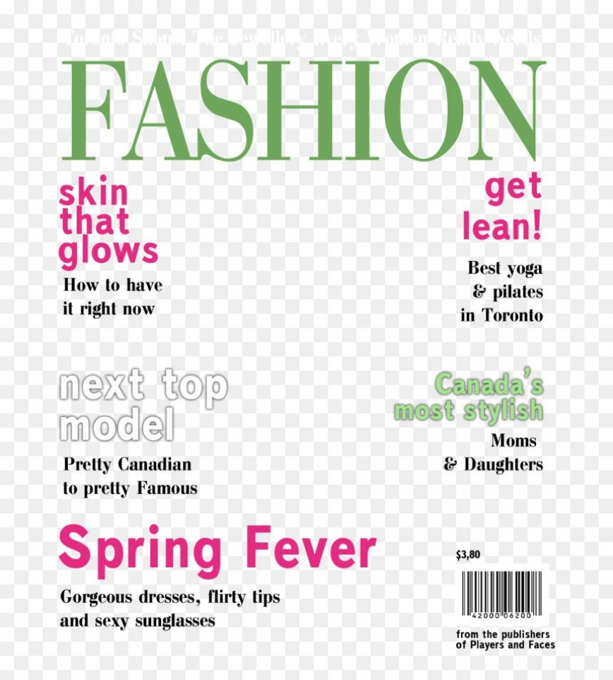 Magazine Cover Template Free Addictionary