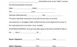 005 Wondrou Motorcycle Bill Of Sale Template Concept  Ontario Printable Word California