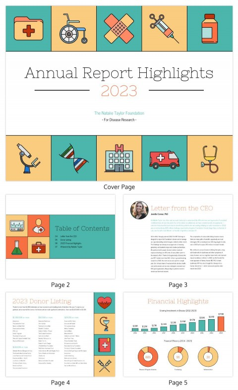 005 Wondrou Non Profit Annual Report Template High Resolution  Not For Small Nonprofit480