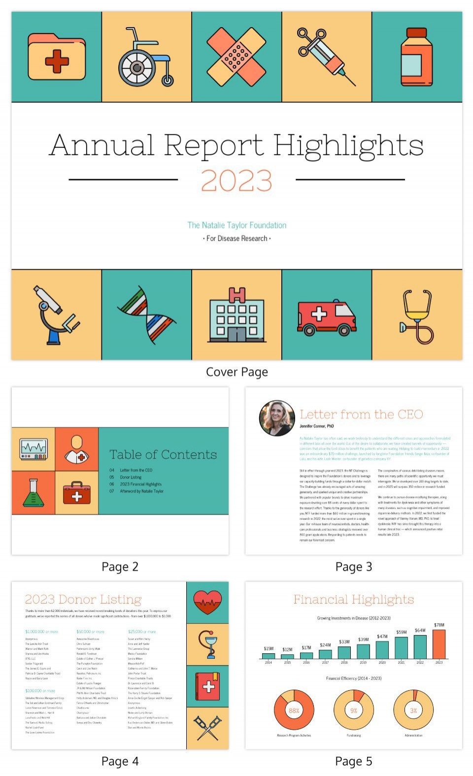 005 Wondrou Non Profit Annual Report Template High Resolution  Not For Small Nonprofit960