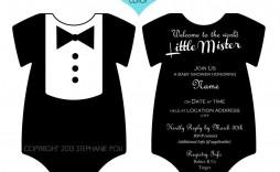 005 Wondrou Onesie Baby Shower Invitation Template Sample  Free