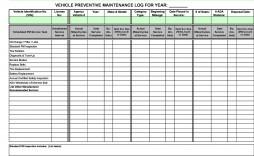 005 Wondrou Vehicle Maintenance Log Template High Def  Microsoft Car