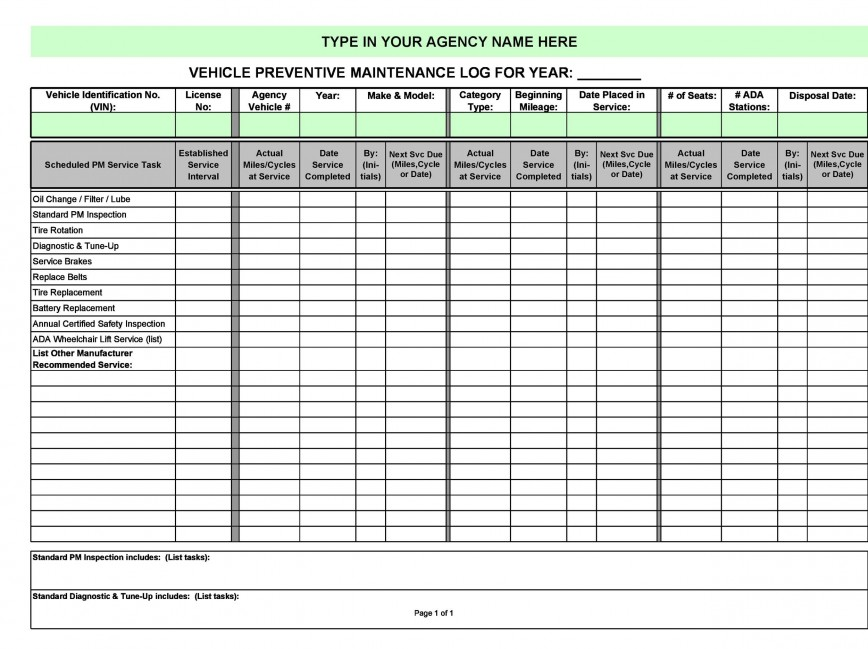 005 Wondrou Vehicle Maintenance Log Template High Def  Microsoft Book Excel