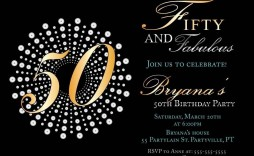 006 Amazing 50th Birthday Invitation Template Sample  For Him Microsoft Word Free