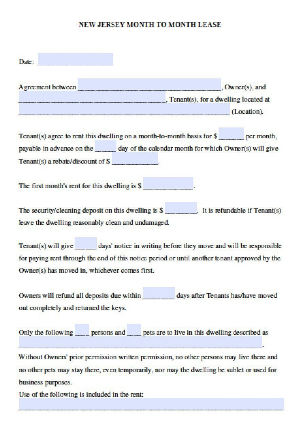 006 Amazing Apartment Lease Agreement Form Nj High Resolution Large