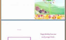 006 Amazing Birthday Card Template Word Highest Clarity  Blank Greeting Microsoft 2010