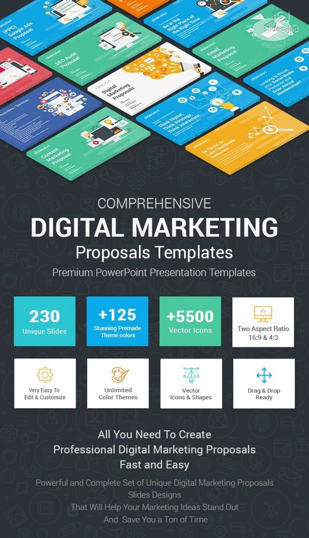 006 Amazing Digital Marketing Plan Sample Ppt Design Large