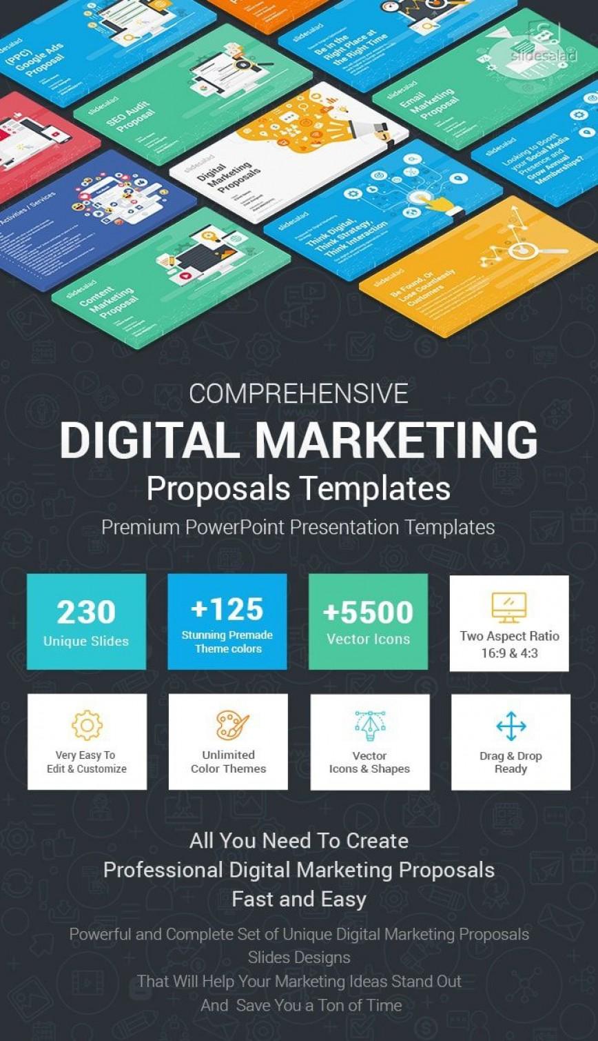 006 Amazing Digital Marketing Plan Sample Ppt Design