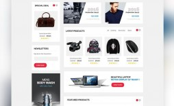 006 Amazing Ecommerce Website Template Html Free Download Design  Cs With Javascript