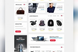 006 Amazing Ecommerce Website Template Html Free Download Design  Bootstrap 4 Responsive With Cs Jquery