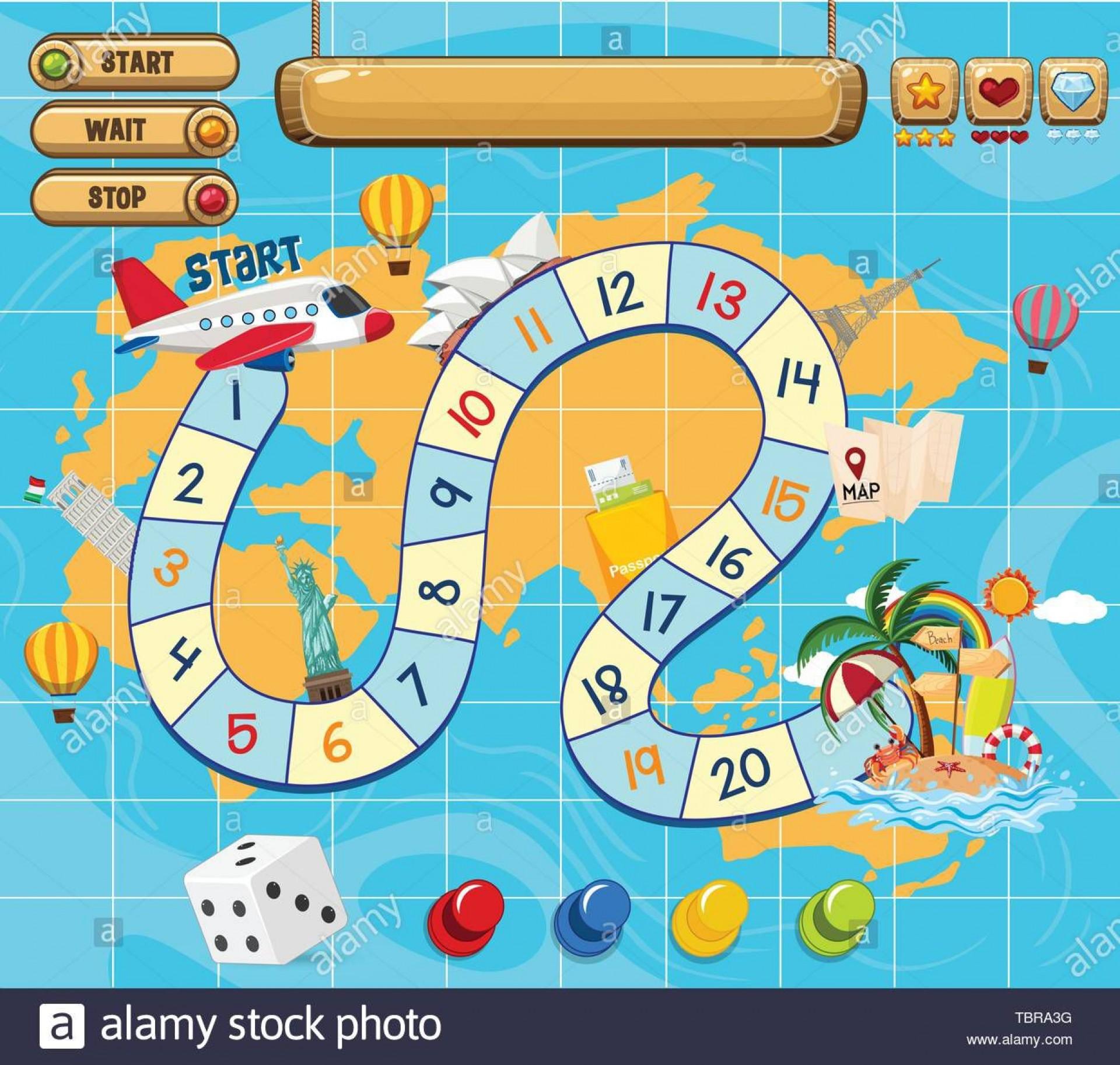 006 Amazing Editable Board Game Template Idea  Word Blank Free1920