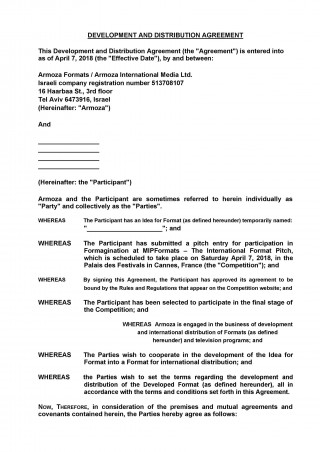 006 Amazing Exclusive Distribution Agreement Template Free Download High Def 320