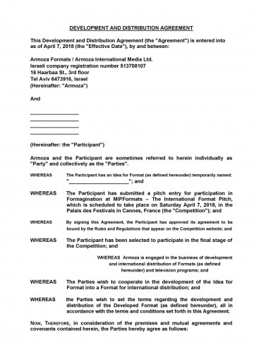 006 Amazing Exclusive Distribution Agreement Template Free Download High Def 360