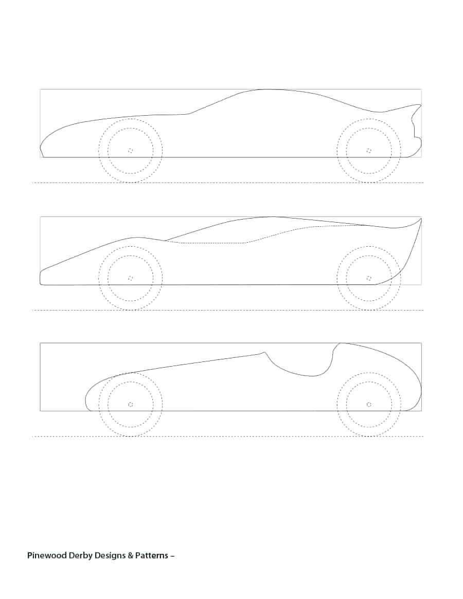 006 Amazing Fastest Pinewood Derby Car Template Sample  Templates World DesignFull