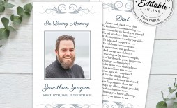 006 Amazing Funeral Prayer Card Template High Resolution  Templates For Word Free