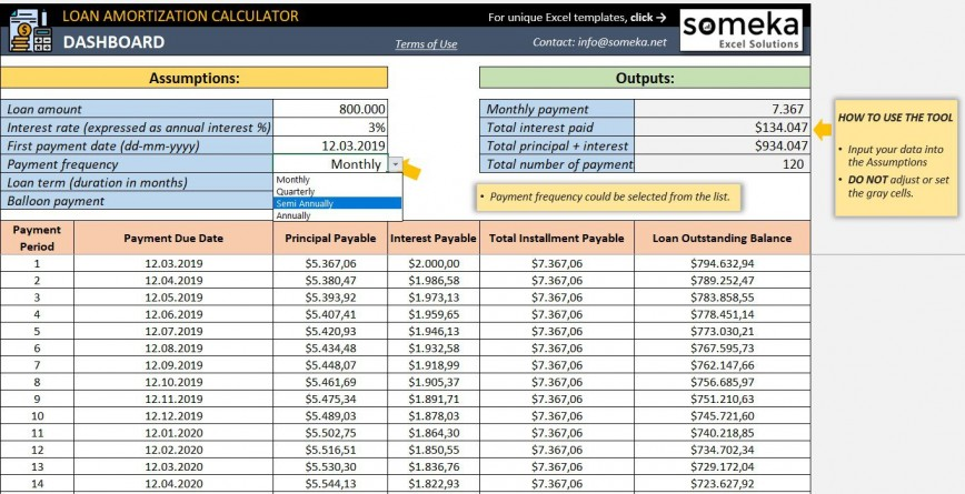 006 Amazing Loan Amortization Excel Template High Def  Calculator Schedule Free Download Software