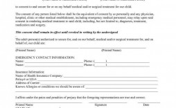 006 Amazing Medical Treatment Authorization And Consent Form Template Design