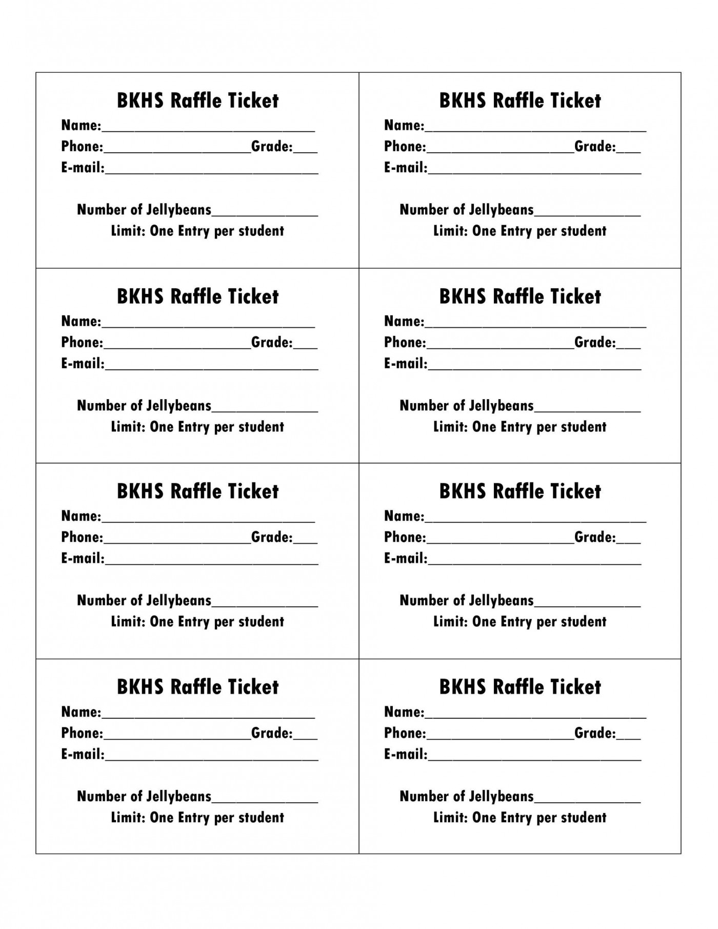 006 Amazing Microsoft Word Raffle Ticket Template Highest Clarity  2007 2010 8 Per Page1400