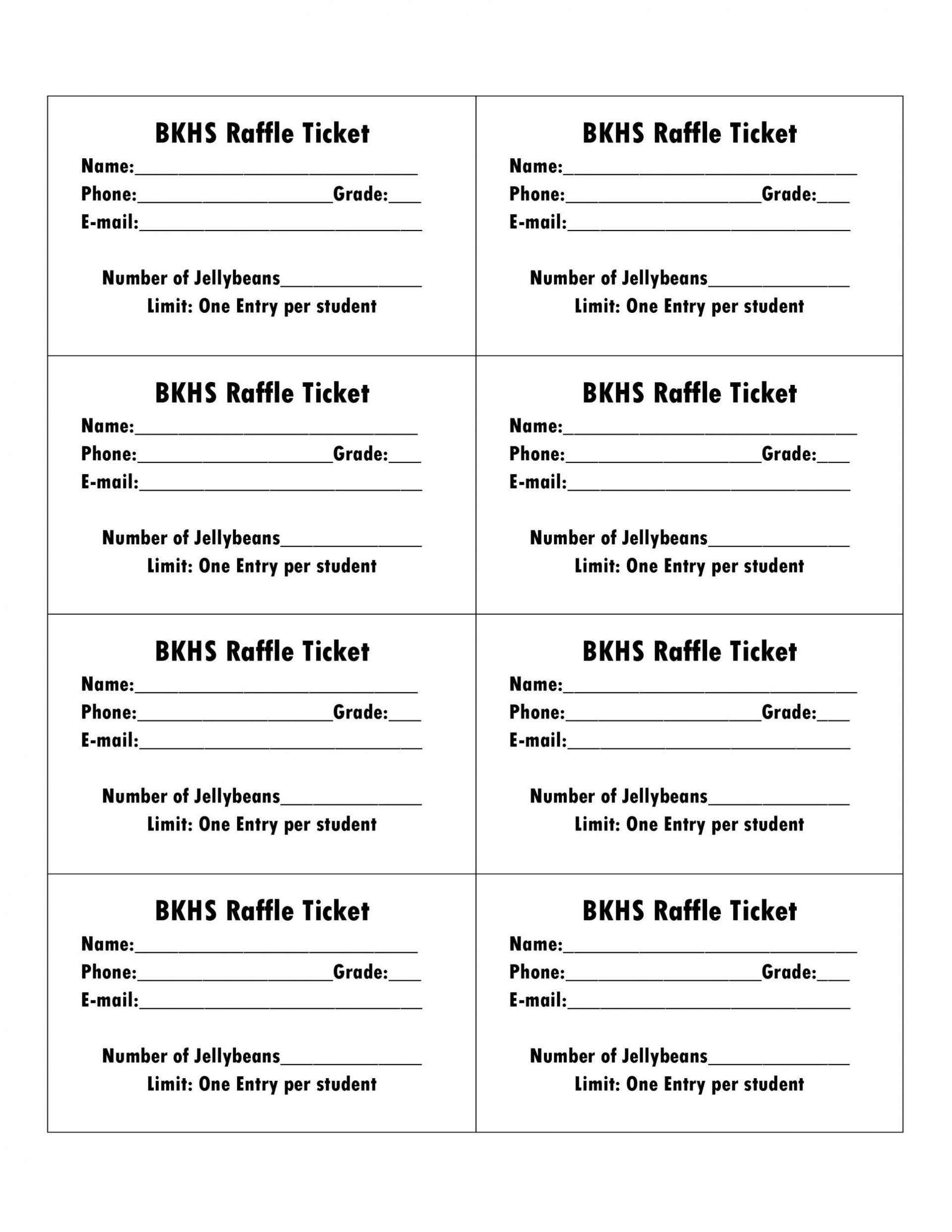 006 Amazing Microsoft Word Raffle Ticket Template Highest Clarity  2007 2010 8 Per Page1920
