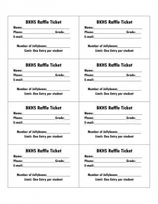 006 Amazing Microsoft Word Raffle Ticket Template Highest Clarity  2007 2010 8 Per Page320