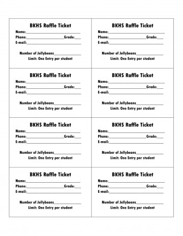 006 Amazing Microsoft Word Raffle Ticket Template Highest Clarity  2007 2010 8 Per Page360