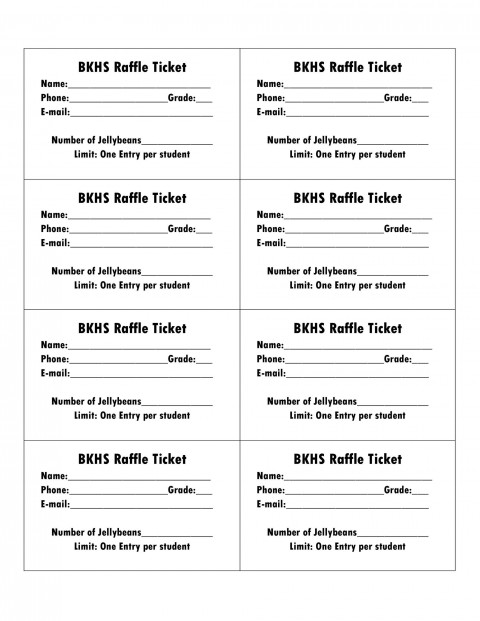 006 Amazing Microsoft Word Raffle Ticket Template Highest Clarity  2007 2010 8 Per Page480