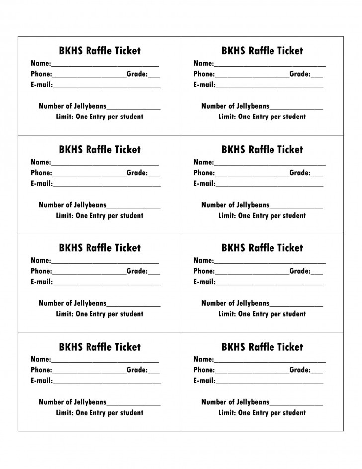006 Amazing Microsoft Word Raffle Ticket Template Highest Clarity  2007 2010 8 Per Page728