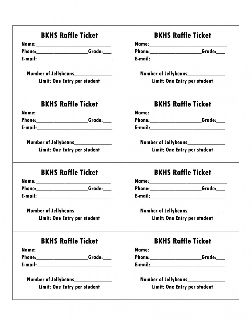 006 Amazing Microsoft Word Raffle Ticket Template Highest Clarity  2007 2010 8 Per Page868