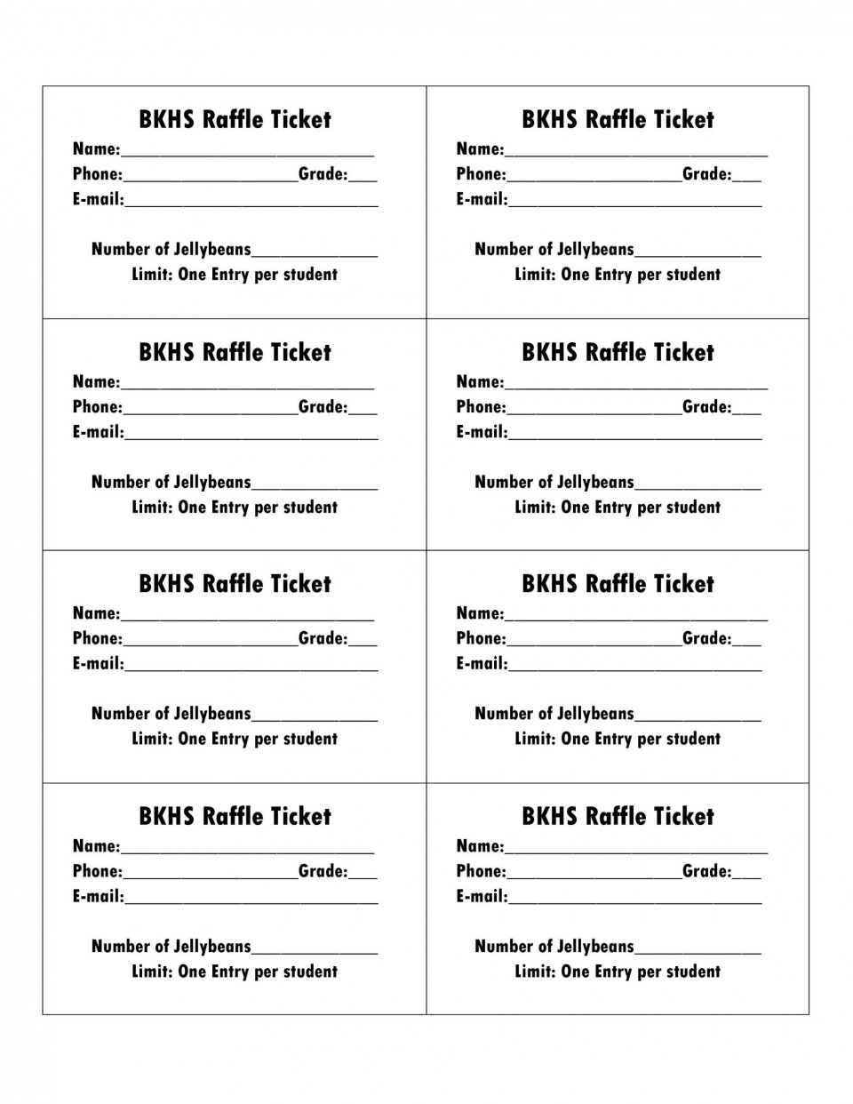 006 Amazing Microsoft Word Raffle Ticket Template Highest Clarity  2007 2010 8 Per Page960