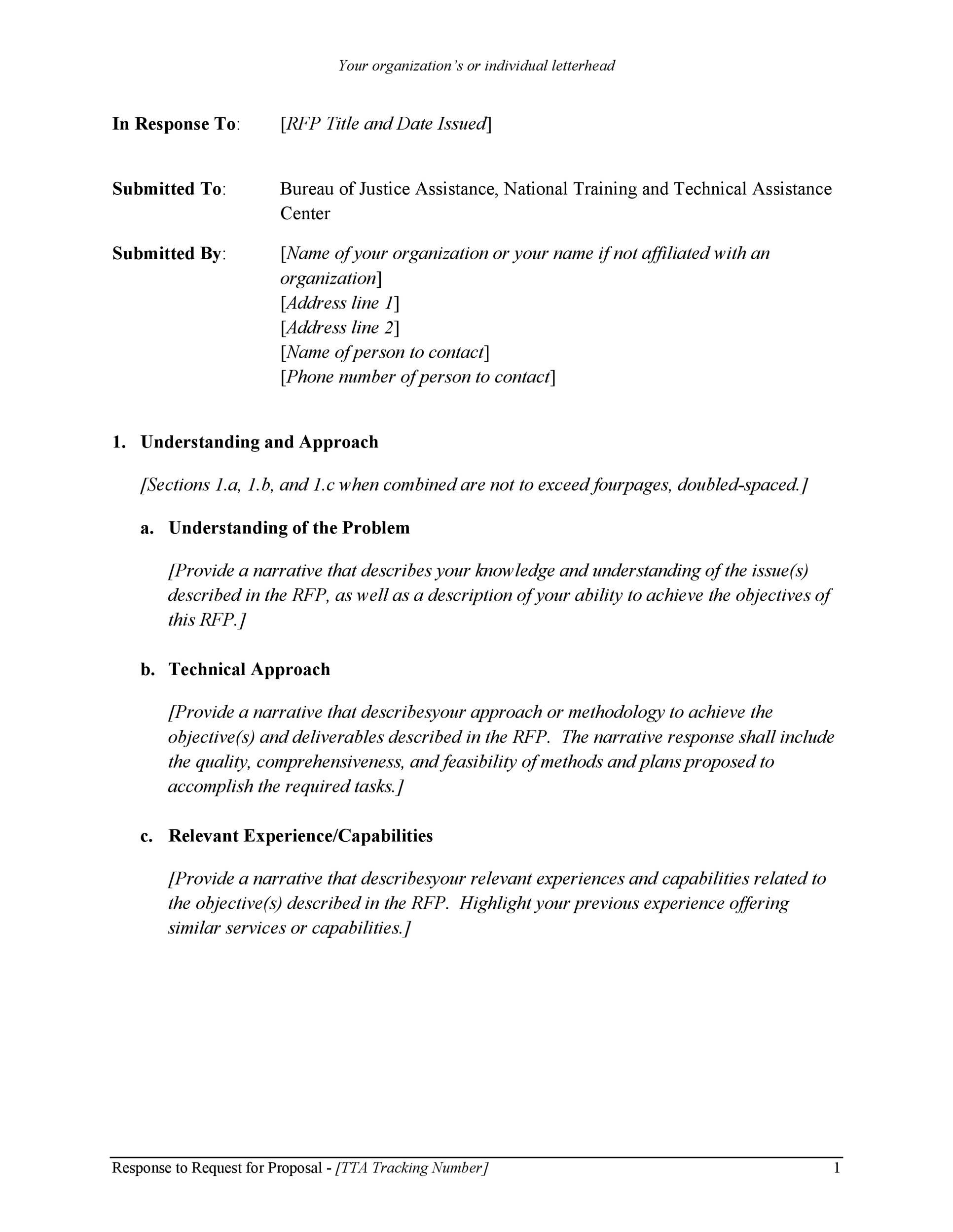 006 Amazing Request For Proposal Response Word Template Image Full