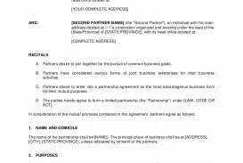 006 Archaicawful Busines Partnership Contract Template High Resolution  Agreement Free Nz Word