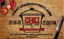 006 Archaicawful Chili Cook Off Flyer Template Picture  Halloween Office Powerpoint