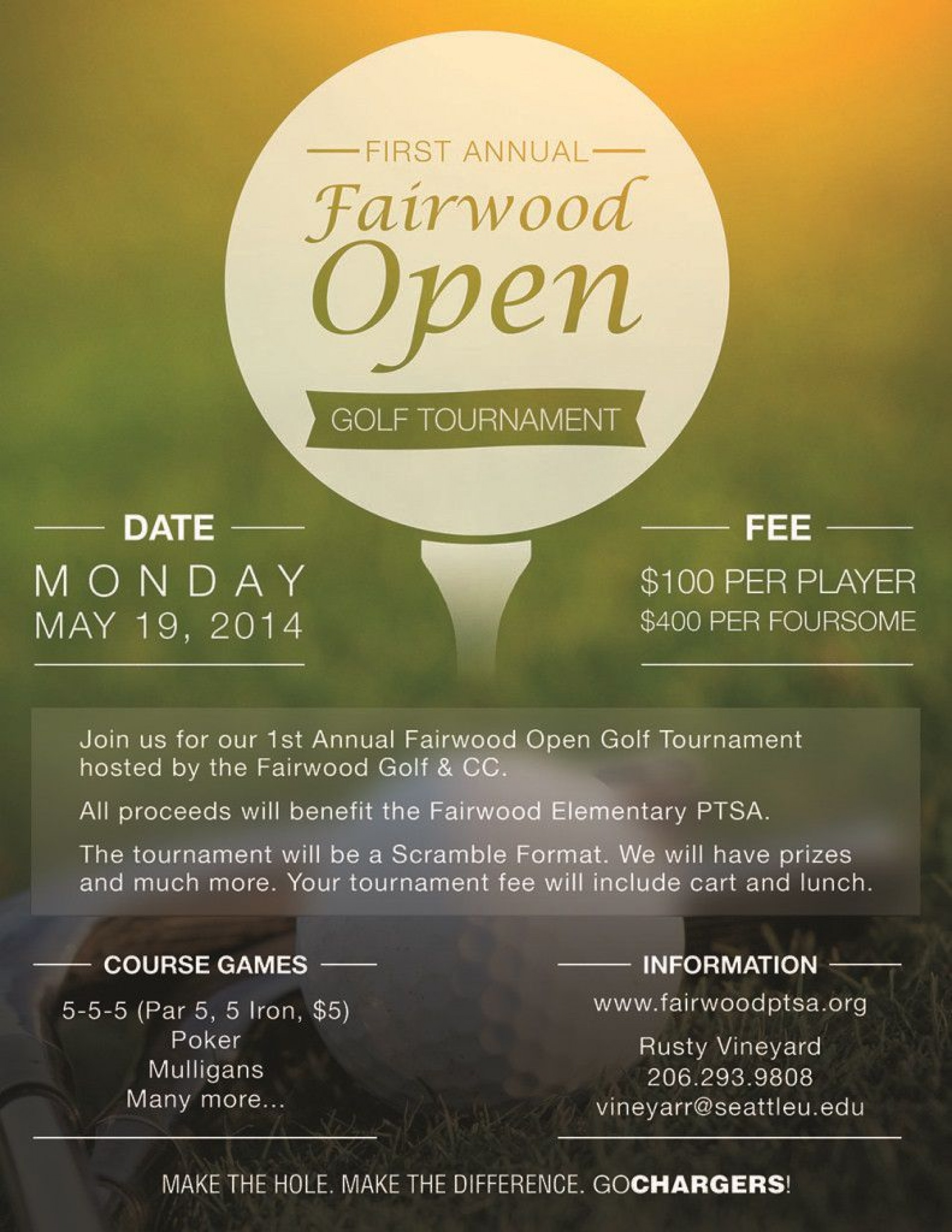 006 Archaicawful Free Charity Golf Tournament Flyer Template Design 1920