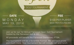 006 Archaicawful Free Charity Golf Tournament Flyer Template Design