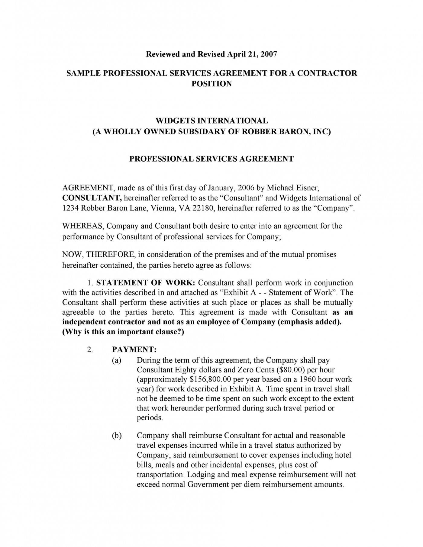 006 Archaicawful Free Service Contract Template Download Sample  Level Agreement Ndi1400