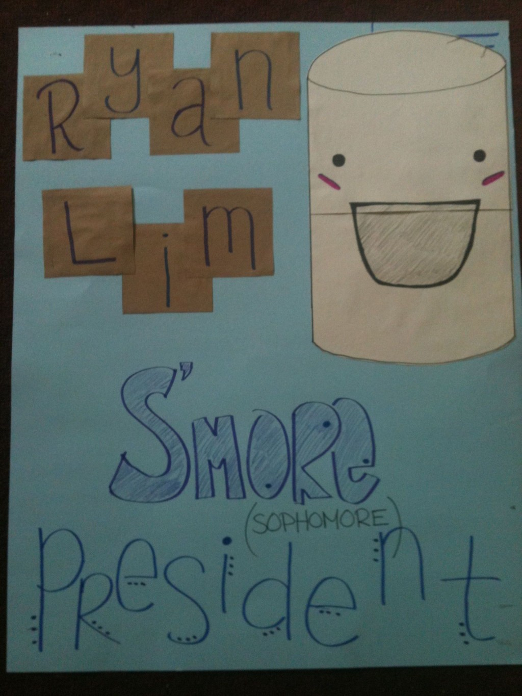 006 Archaicawful Free Student Council Campaign Poster Template Design Large