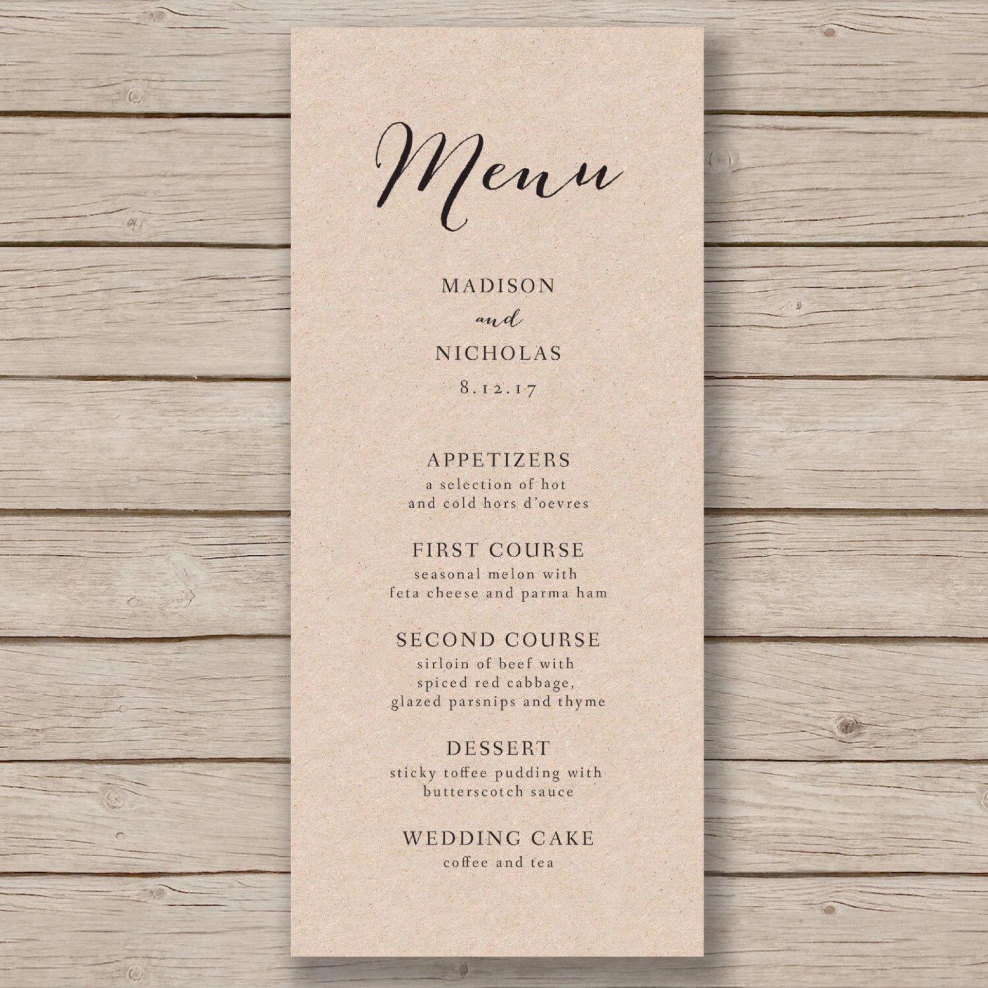 006 Archaicawful Free Wedding Menu Template Concept  Templates Printable For Mac1920