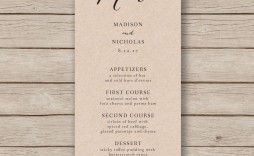 006 Archaicawful Free Wedding Menu Template Concept  Templates Printable For Mac