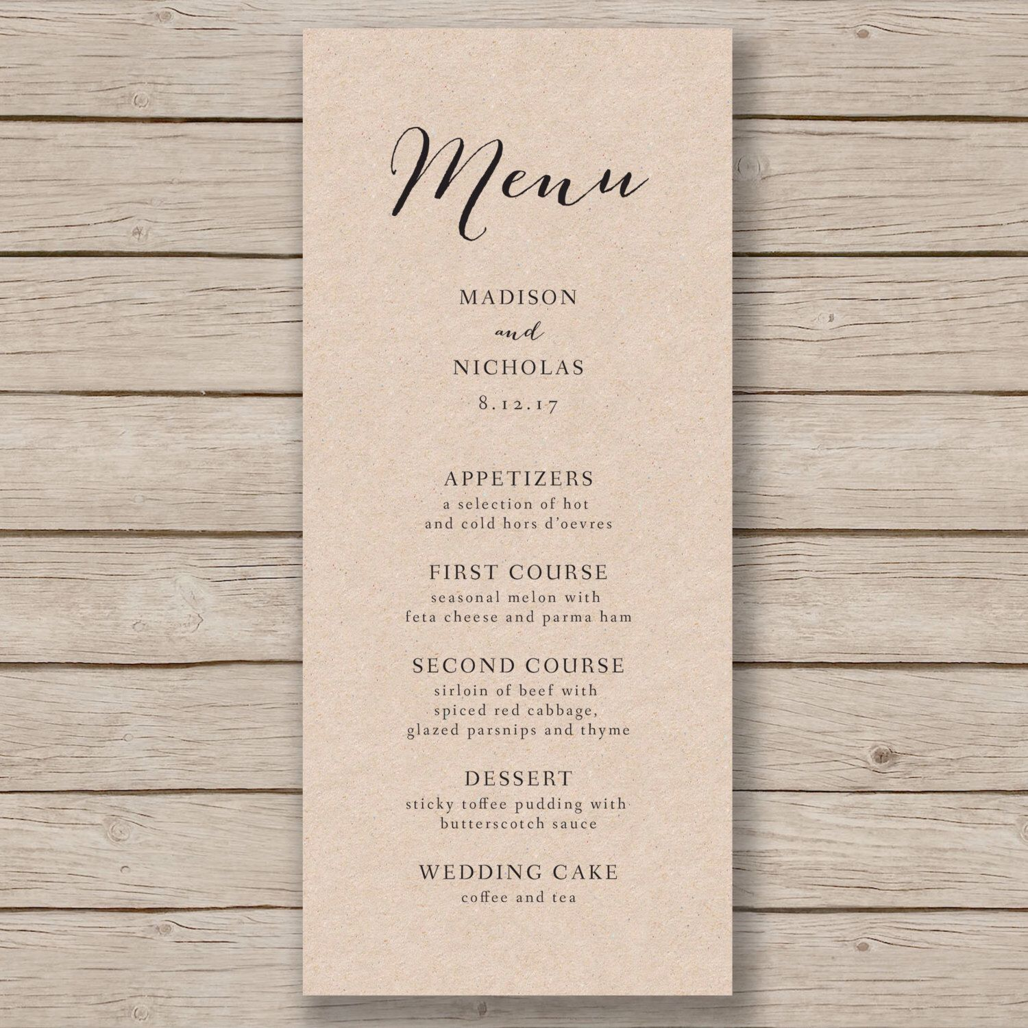 006 Archaicawful Free Wedding Menu Template Concept  Templates Printable For MacFull