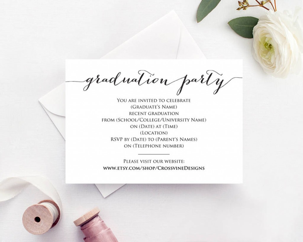 006 Archaicawful Graduation Party Invitation Template Photo  Microsoft Word 4 Per PageLarge